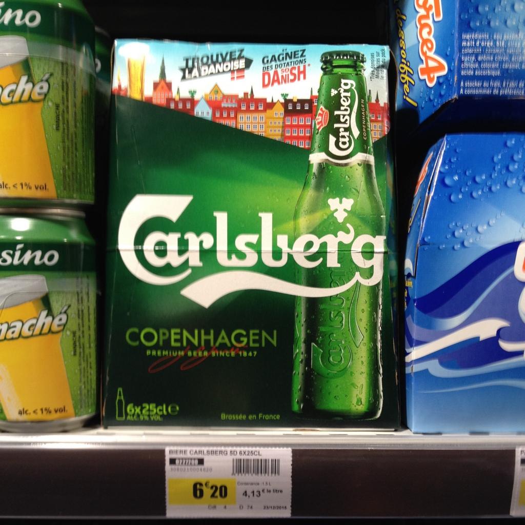 Франция. Серр Шевалье. 6 маленьких бутылок Карлсберга по 6 евро