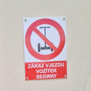 Прага. Сегвей запрещено